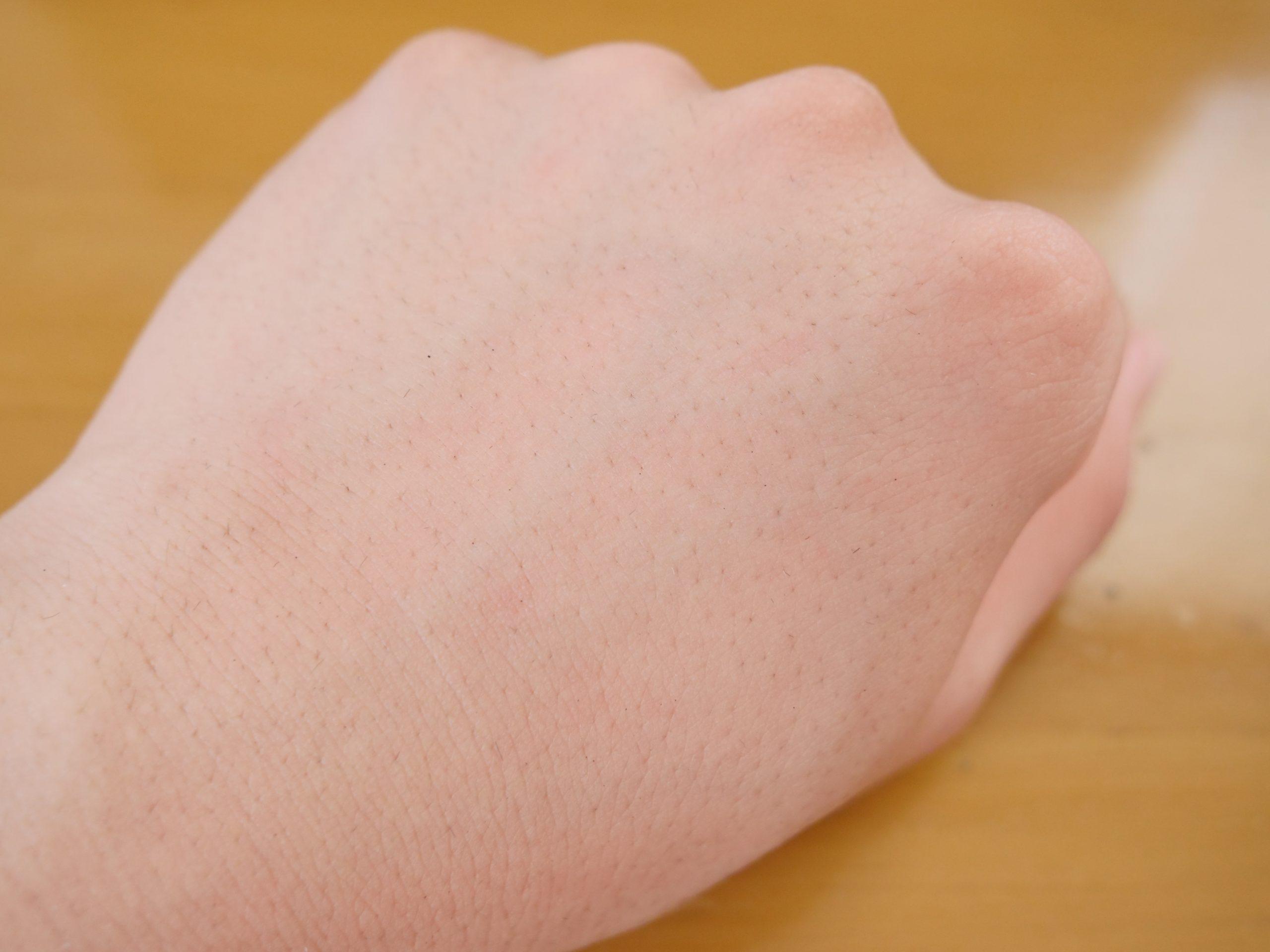 BBクリーム使用前の肌
